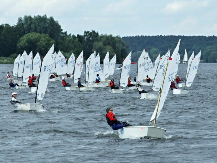 Opti in der Wettfahrt - Gothen Cup 2010 - Photo © SailingAnarchy.de