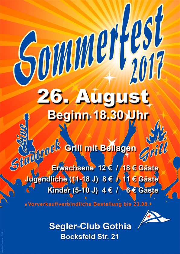 Sommerfest 2017 im SC Gothia - © Martin Pichura