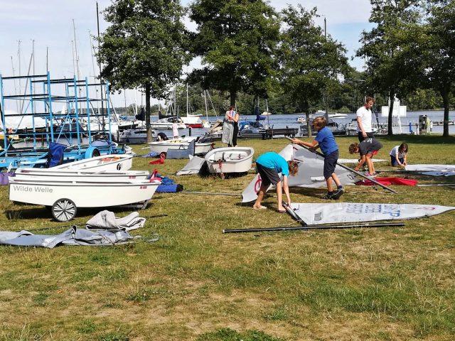 Trainingslager 2018 der Opti-Regattasegler des SC Gothia und des Spandauer Yachtclubs in Röbel an der Müritz