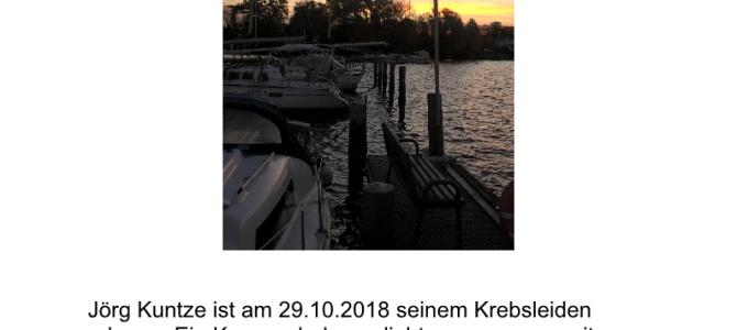 Nachruf Jörg Kuntze