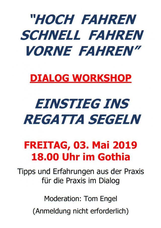 Einladung zur Information und Diskussion zurm Einstieg in das Regatta Segeln - Photo © T. Engel 2019