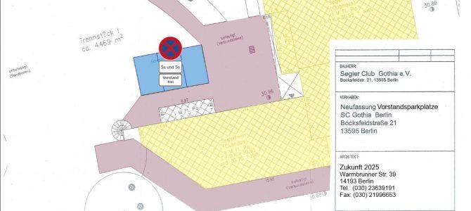 Achtung: Freifläche vor Eingangsbereich Clubhaus wird neu gestaltet