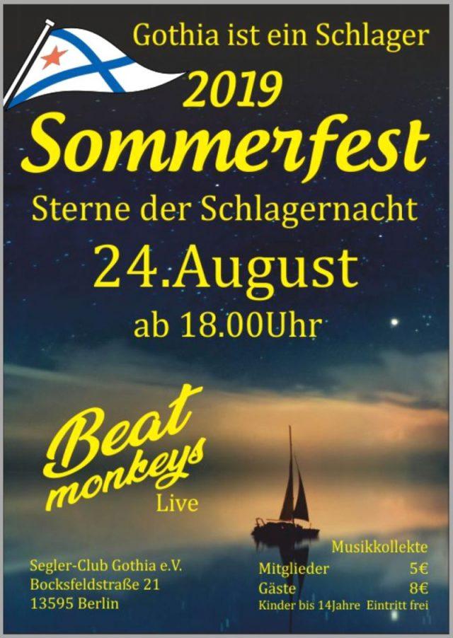 Sommerfest 2019 in SC Gothia - Schlag auf Schlag in der Schlagernacht!