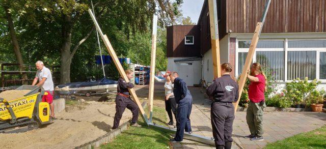 Geburtstag auf Finnisch - Spielplatzerneuerung im SCG - Photo © Mieze
