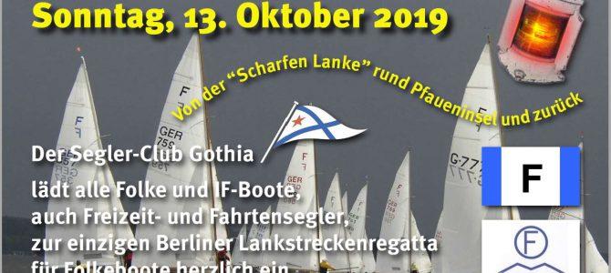 Schlusslicht Regatta 2019 – Folke- und IF-Boote Flotte aufgemerkt!