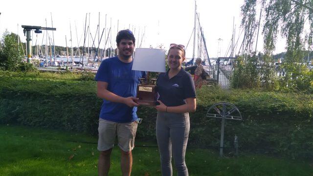 Sieger der 2. Clubwettfahrt 2020 des SCG: Maria Arlt & Matthias Dachs auf einem 420er - Photo © Tom Engel, 2020