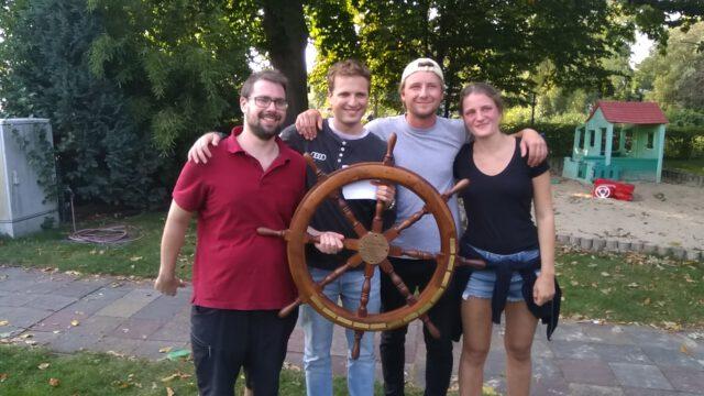 Gewinner der Clubmeisterschaft 2020 des SC Gothia: Team J-Walking mit Steuermann Jonathan Prill & Marie Held, Lasse Gülzow, Thilo Zepp - Photo © Tom Engel, 2020