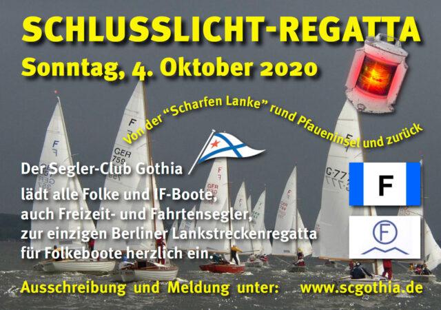 Einladung SCHLUSSLICHT-REGATTA 2020 - Photo © M. Pichura