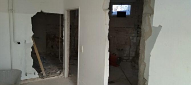 Umbau der Sanitäranlagen geht voran!