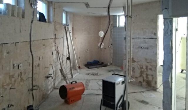 Es wird! Umbau der Sanitärräume im Anbau des SC Gothia - Photo © T. Engel