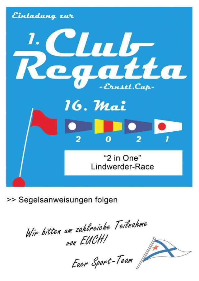 Einladung Clubregatta 16.05.2021 - Grafik © M. Pichura