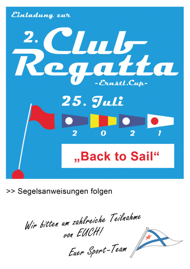 Einladung Clubregatta 25.07.2021 - Grafik © M. Pichura