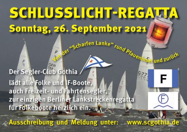 Einladung Schlusslicht Regatta 2021 - SC Gothia
